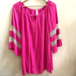 2B Top, Cute Pink Tunic, Size M
